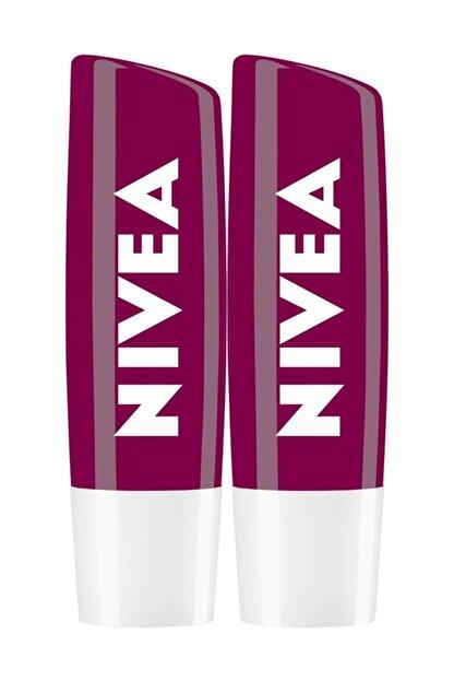 Nivea Böğürtlen Dudak Bakımı Lipstick 4,8 G X 2 Avantajlı Paket