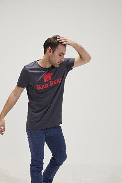 Bad Bear Erkek Antrasit Oversıze Tişört Tee Os