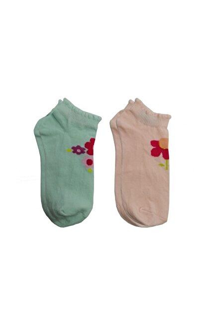 yago giyim Çiçek Desenli Yazlık Patik Çorap 2 Li