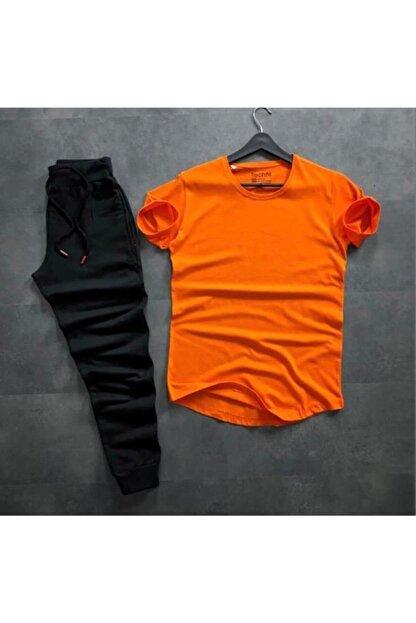 Lion Company Erkek TuruncuTshirt Eşofman İkili Takım