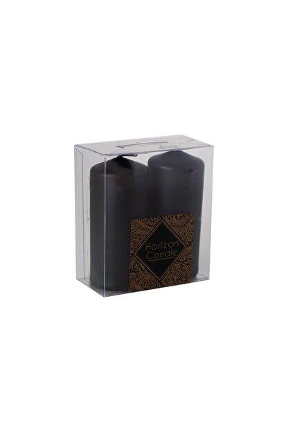 HORİZON CANDLE Siyah Bar Mum Sandal Ağacı Kokulu 2'li Paket