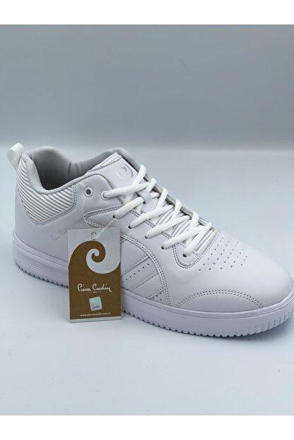 Pierre Cardin Beyaz Cilt Bilekli Spor Ayakkabı