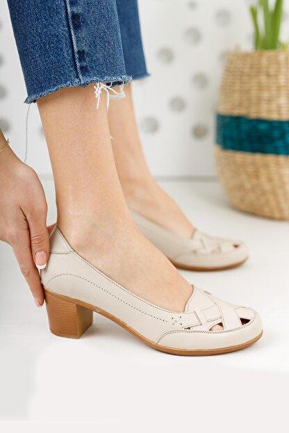 Diego Carlotti Hakiki Deri Kadın Topuklu Günlük Klasik Ayakkabı