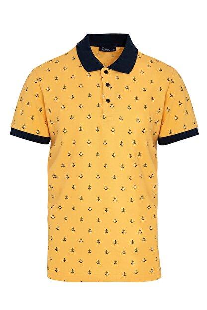 Hatemoğlu Sarı Baskılı Polo Yaka Tişört