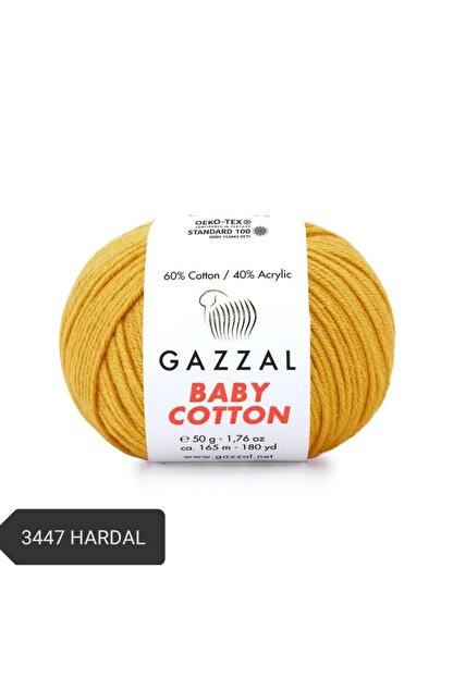 Gazzal Babycotton Amigurumi Ipi Örgü Ipi Punch Ipi El Örgü Ipi 3447 Hardal