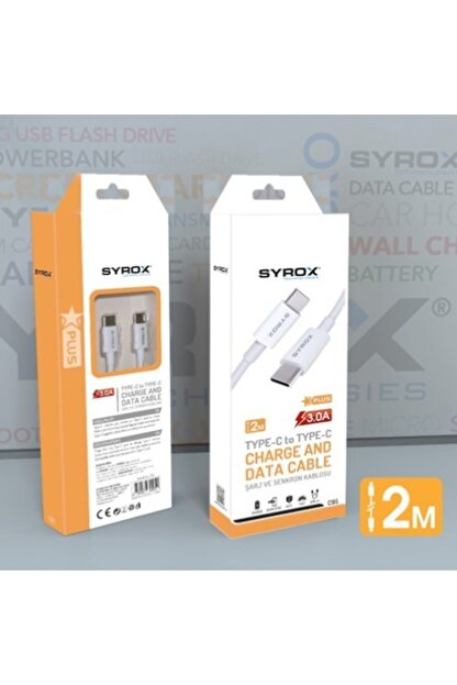 Syrox Type-c To Type-c 2metre Kablo