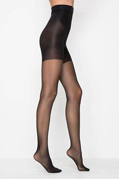Penti Siyah Body Form Külotlu Çorap Xl - 4