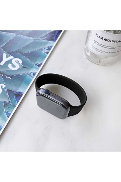Apple Watch 6 Kordon Pürüzsüz Soft Mat Silikon Small 44mm Krd-31