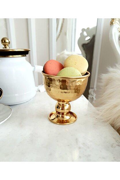 Hazella Home Gold Ayaklı Kase, Dondurmalık, Şekerlik, Lokumluk