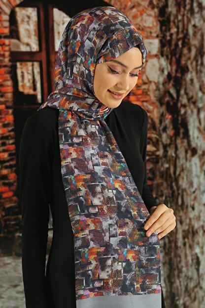Moda Ebrar Kadın Desenli Pamuk Şal - Tmeds-048