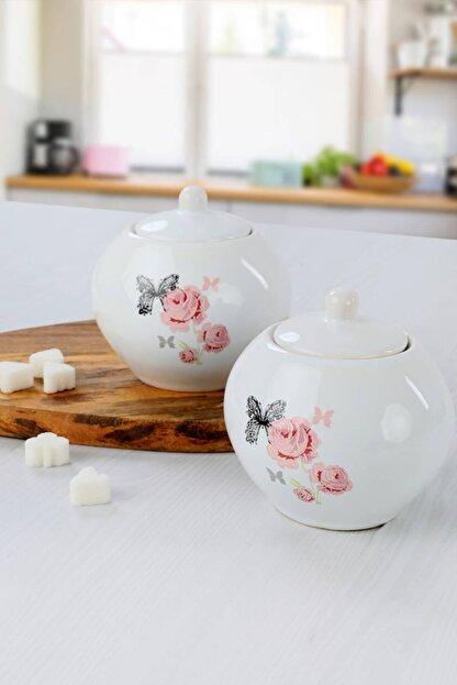 Keramika Gül Trend Şekerlik 10 Cm 2 Adet