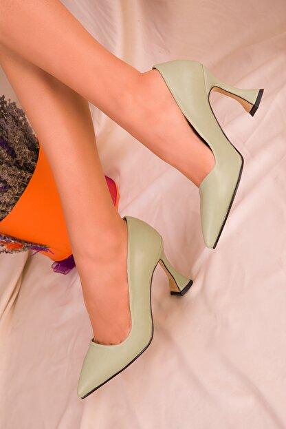 Soho Exclusive Yeşil  Kadın Klasik Topuklu Ayakkabı 15953