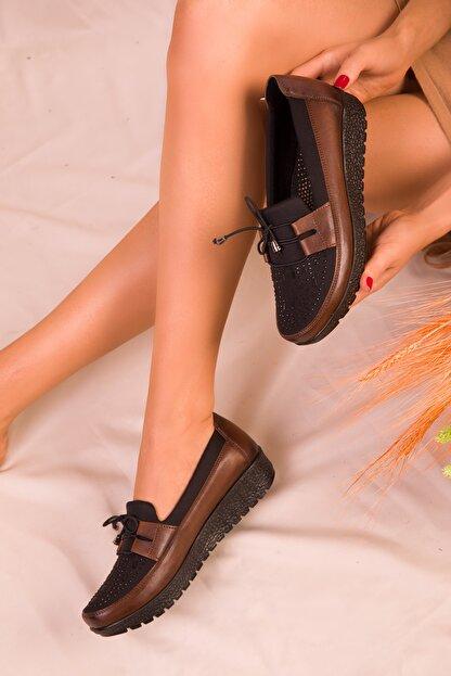 Soho Exclusive Taba-Siyah Kadın Casual Ayakkabı 15429