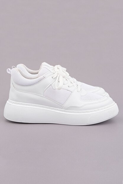 Marjin Kadın Beyaz Sneaker Ayakkabı Levido