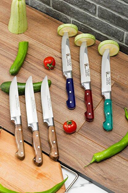 Gezgin Bıçak Premium Paslanmaz Çelik 6'lı Mutfak Bıçak Seti