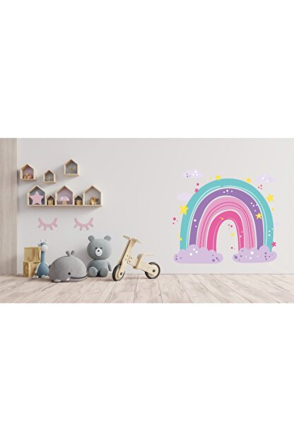 AND Sticker Renkli Gökkuşağı 2 Dekoratif Çok Amaçlı Çocuk Odası Duvar Sticker