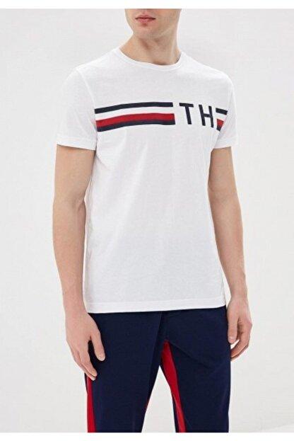 Tommy Hilfiger Th Logo Stripe Erkek Tee