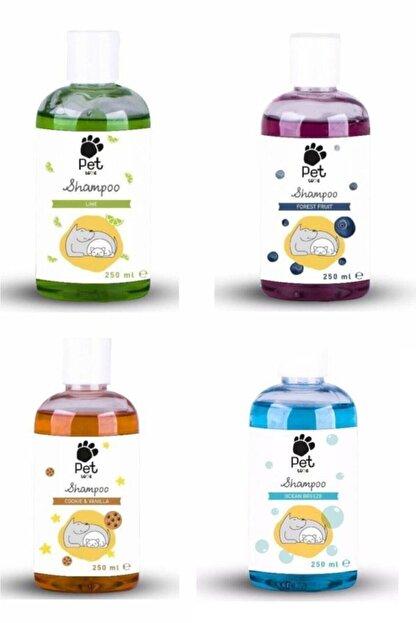Pet Love Kedi & Köpek Şampuanı Karma Set 250 ml X 4 Adet