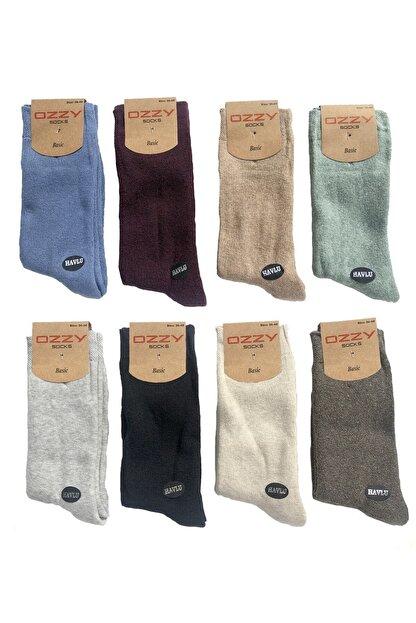 Ozzy Socks 8 Çift Kadın Havlu Soket Çorap Kışlık Dayanıklı Topuk Ve Burun