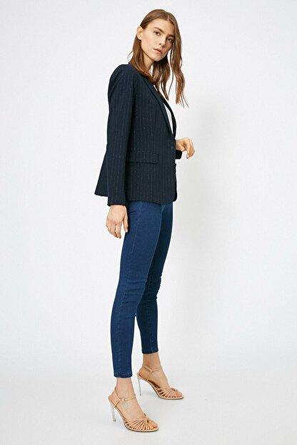 Koton Kadın Mavi Pantolon 0yak47642dd