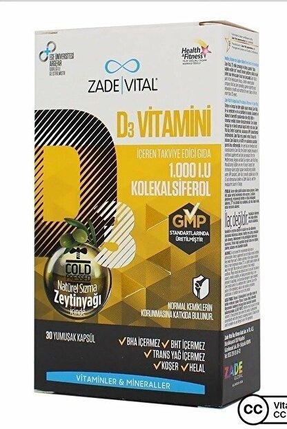 Zade Vital D3 Vitamin 30 Kapsül