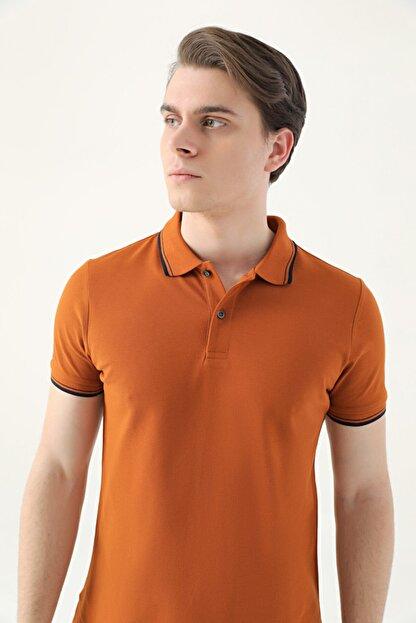 D'S Damat Ds Damat Slim Fit Tarçın Pike Dokulu T-shirt