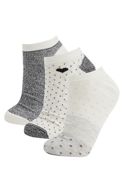 Defacto Desenli  Patik Çorap 3'lü
