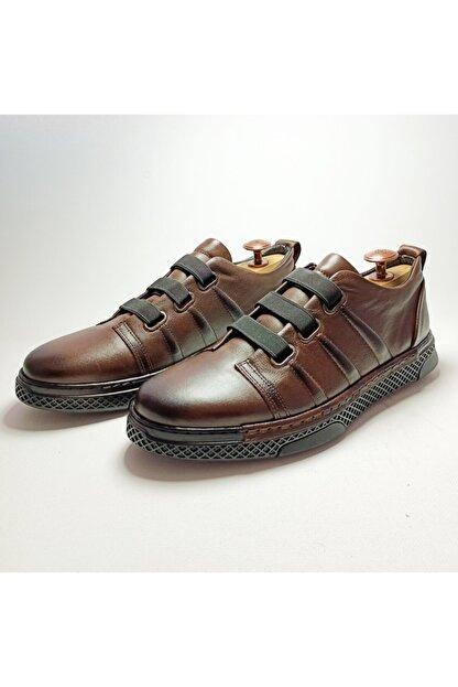 Ayakkabium Erkek Kahverengi Sneaker Günlük Ayakkabı