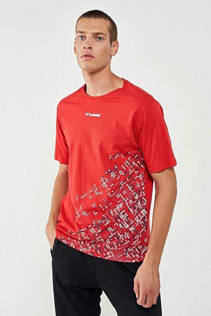 HUMMEL Erkek Kırmızı Welo Kısa Kollu Tişört