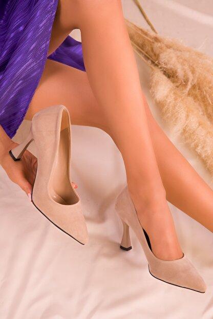 Soho Exclusive Ten Süet Kadın Klasik Topuklu Ayakkabı 16002