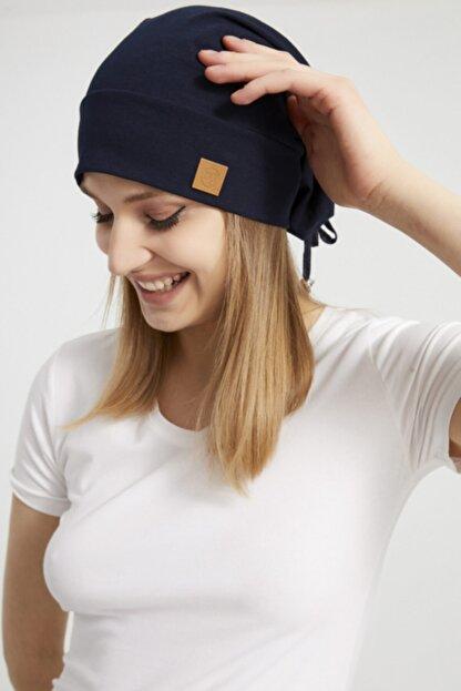 Butikgiz Kadın Siyah, Ip Detaylı Özel Tasarım 4 Mevsim Şapka Bere Buff -ultra Yumuşak Doğal Penye Kumaş