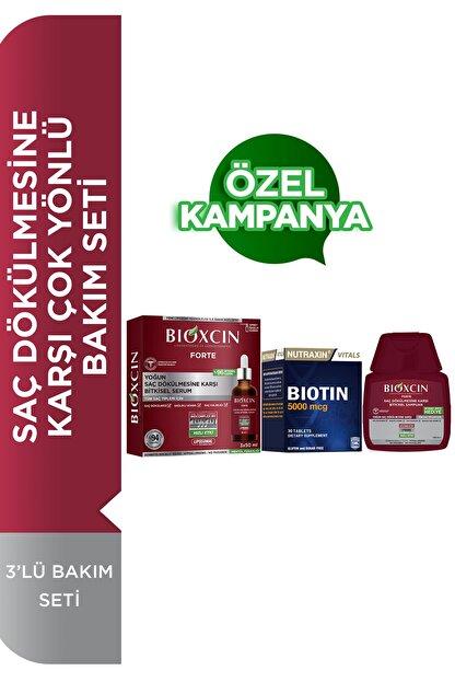 Bioxcin Forte Serum 3'lü Bakım Seti Saç Dökülmesine Karşı Çok Yönlü Bakım Seti Serum+şampuan+biotin