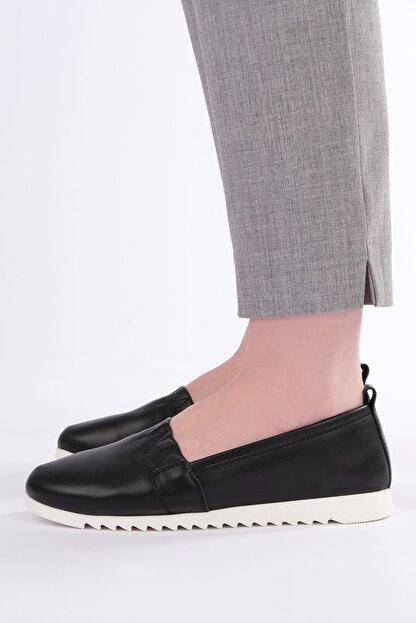 Marjin Kadın Siyah Hakiki Deri Comfort Ayakkabı Tilev