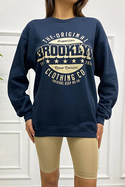 Eka 0939-0231 Broklyn Baskılı Şardonlu Sweatshirt
