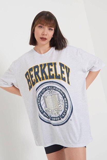 Addax Baskılı Oversize T-shirt P9551 - C11