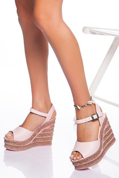 derithy Kadın Pudra Dolgu Topuklu Ayakkabı