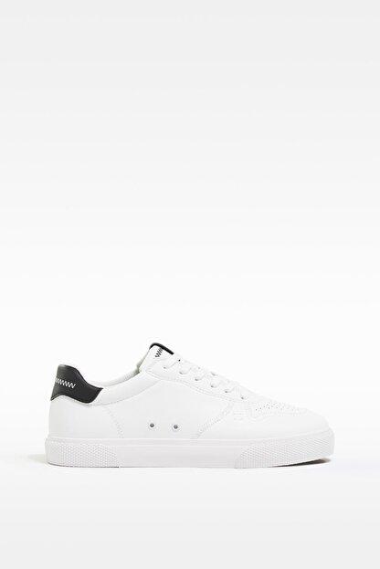 Bershka Erkek Beyaz Kontrast Spor Ayakkabı 12400760