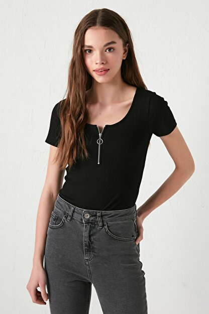 LC Waikiki Kadın Yeni Siyah Bluz