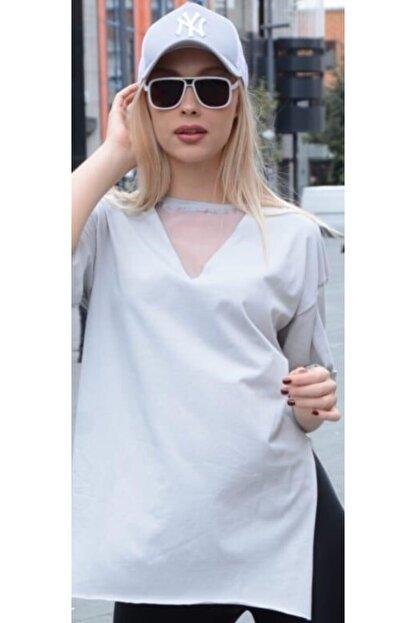 zirve butik Beyaz Tişört