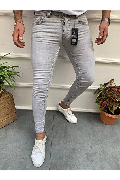 Cocers Erkek Gri Slim Fit Jean Pantolon