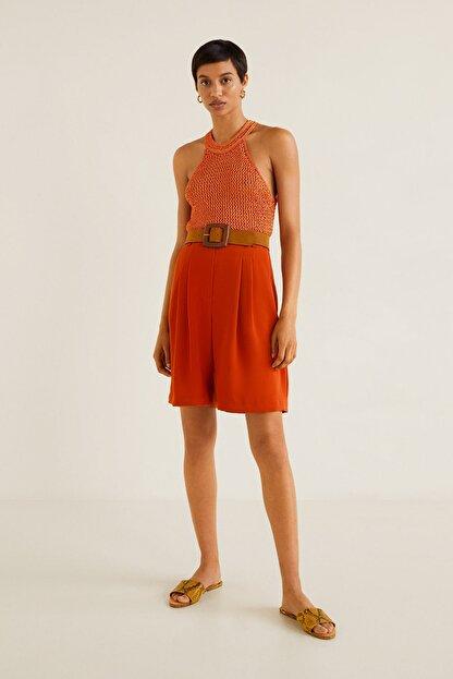 Mango Kadın Parlak Turuncu Bluz 43047802