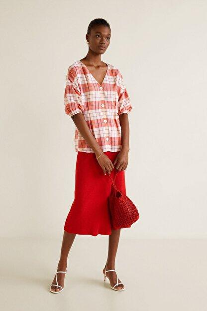 Mango Kadın Kırmızı  Bluz 43057739