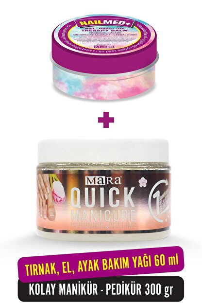 Mara Quick Manikür 300gr + Nailmed+ Biotin 60ml Tırnak El Ayak Bakım Seti