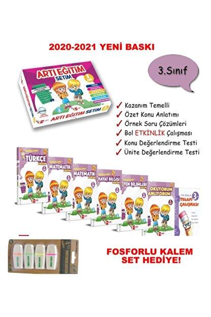 Artı Eğitim Yayınları Artı Eğitim 3. Sınıf Okulda Evde Eğitim Seti (2020-2021) Fosforlu Kalem Set Hadiye