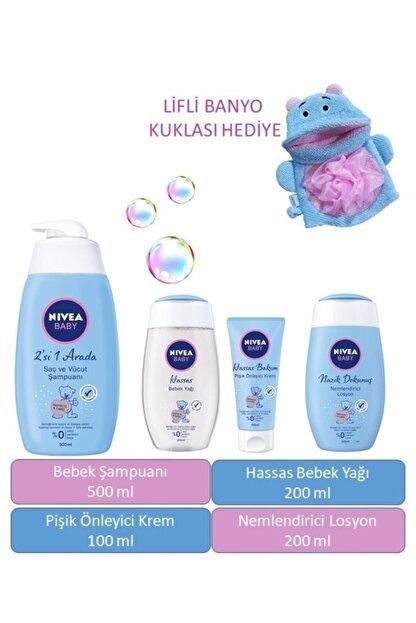 Nivea Bebek Şampuanı, Losyon, Yağ, Pişik Kremi, Banyo Lifi