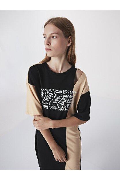 Twist Slogan Baskılı Sweat Elbise