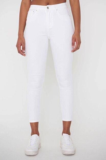 Addax Kadın Beyaz Pantolon Pn4424 - Pnj ADX-00008543