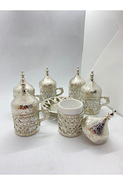 SWORD Osmanlı Motifli Dekoratif Hediyelik 6 Kişilik Türk Kahve Seti