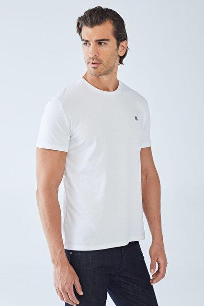 Boris Becker Erkek Beyaz Baskılı Basic T-shirt