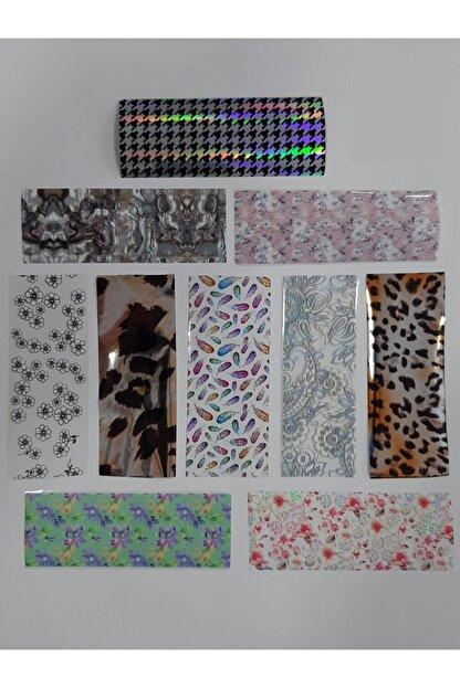 DIAMOND PROFESSIONAL Tırnak Tasarım Folyoları 1 Paket 10 Adet